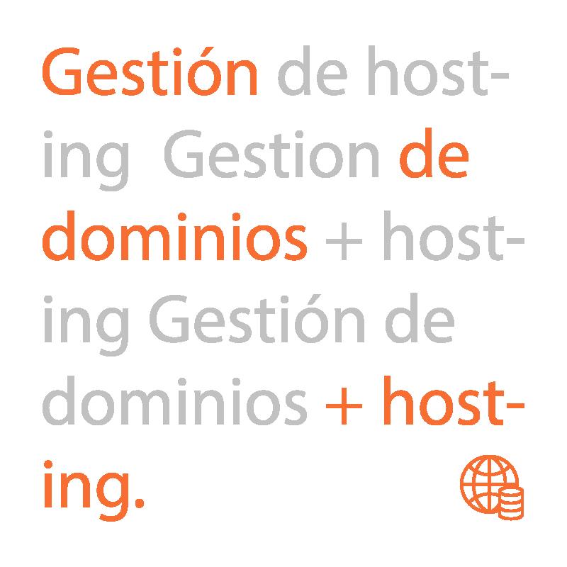 Gestión de hosting y dominios